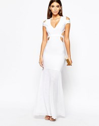 Wow Couture Cut Out Fishtail Maxi Dress Red