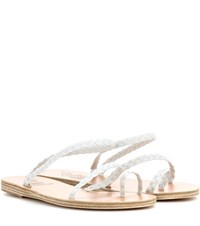 Ancient Greek Sandals Eleftheria Leather White