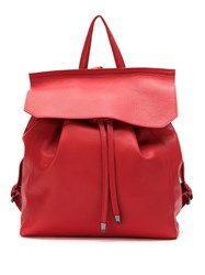 Mara Mac Leather Backpack Red