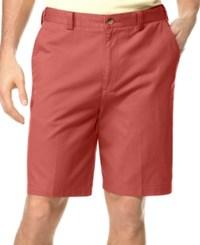 Geoffrey Beene Big And Tall Extender Waist Flat Front Shorts Deep Red