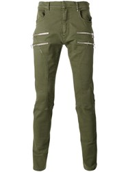 Faith Connexion Zipped Skinny Trousers Green