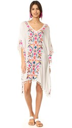 Basta Surf Coquina Embroidered Caftan Cream