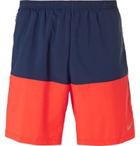 Nike Running Flex 7 Colour Block Dri Fit Shorts Blue