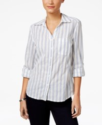 Style And Co Cotton Striped Shirt Only At Macy's Braided Stripe