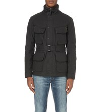 Idris Elba X Superdry Leading Waxed Cotton Motorcycle Jacket Black