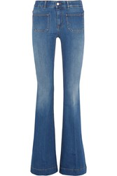 Stella Mccartney High Rise Flared Jeans Mid Denim