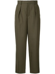 Tomorrowland Checked Tailored Trousers Brown