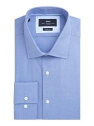 Paul Costelloe Noble Cotton Dobby Weave Slim Fit Shirt Blue
