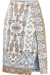 Tory Burch Wrap Effect Jacquard Skirt Multi