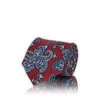 Fairfax Paisley Silk Faille Necktie Red