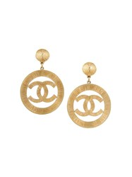 Chanel Vintage Cc Logo Jumboclip One Earrings Metallic