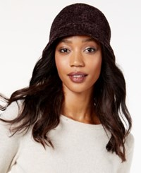 August Hats Crochet Classic Chenille Cloche Chocolate
