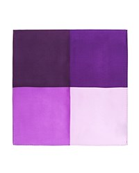 Burma Bibas Colorblock Silk Pocket Square Compare At 45 Lavender