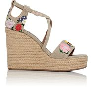 Tabitha Simmons Women's Jenny Meadow Wedge Espadrille Sandals Colorles Colorless
