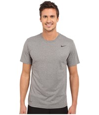 Nike Legend 2.0 Short Sleeve Tee Carbon Heather Black Black Men's T Shirt Gray
