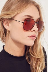 Urban Outfitters Vintage Deadstock Filter Aviator Sunglasses Orange