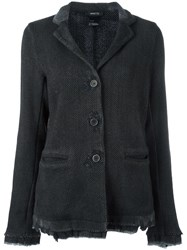 Avant Toi Weave Knit Fitted Jacket Black