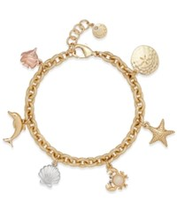 Charter Club Under The Sea Gold Tone Charm Bracelet Only At Macy's