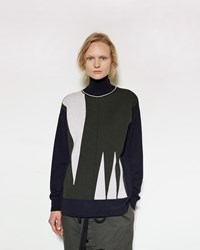 Marni Graphic Turtleneck Ultramarine