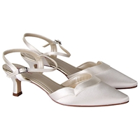Rainbow Club Annie Satin Slingback Sandals Ivory