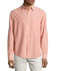 Faherty Ventura Long Sleeve Shirt Pink