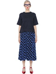 Tsumori Chisato Jersey And Polka Dot Jacquard Dress