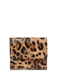 Dolce And Gabbana Leo Print Dauphine Leather Wallet Multicolor