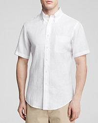 Brooks Brothers Short Sleeve Linen Button Down Shirt Classic Fit