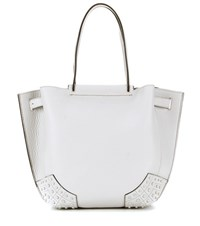 Tod's Gommini Small Leather Tote Grey