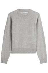 Alexander Wang T By Wool Pullover With Cashmere Grey