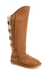Women's Australia Luxe Collective 'Spartan' Knit And Shearling Tall Boot Wide Calf