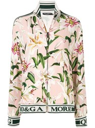 Dolce And Gabbana Lily Print Track Jacket Pink