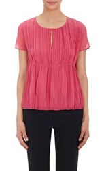 Philosophy Di Alberta Ferretti Women's Pleated Front Chiffon Blouse No Color
