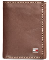 Tommy Hilfiger Men's Logan Zipper Trifold Wallet Tan