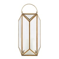 House Doctor Tall Cubix Lantern Brass