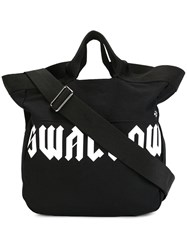 Mcq By Alexander Mcqueen Swallow Tote Bag With Shoulder Strap Black