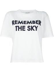 Each X Other 'Remember The Sky' T Shirt White