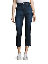 Ag Adriano Goldschmied Isabelle High Rise Straight Cropped Jeans Blue