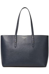 Aspinal Of London Woman Regent Textured Leather Tote Navy