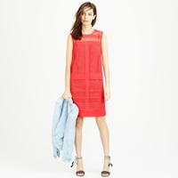 J.Crew Petite Sleeveless Geo Lace Sheath Dress