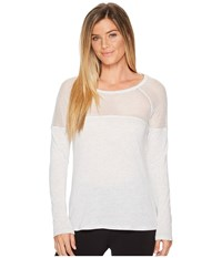 Lorna Jane Valley Long Sleeve Top Snow Marl Women's Clothing White