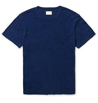 Simon Miller Nep Cotton And Silk Blend Jersey T Shirt Blue