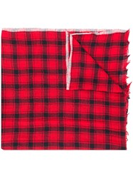 Bellerose Checked Scarf Red