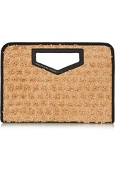 Marc By Marc Jacobs Textured Raffia Clutch Nude