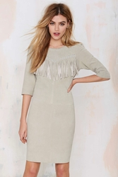 Nasty Gal Maison Scotch Joni Suede Fringe Dress