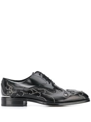 Alexander Mcqueen Lace Up Flame Shoes Black