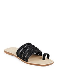 Saks Fifth Avenue Open Toe Slide Sandals Black