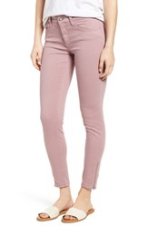 Mavi Jeans Adriana Zip Ankle Super Skinny Zip Light Rose Twill