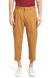 The Rail Pleated Crop Pants Brown Dijon