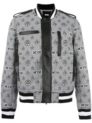 Ktz Monogram Print Bomber Jacket Black